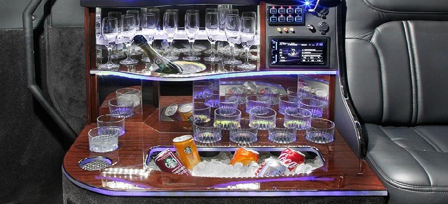 Mercedes Sprinter interior drink storage