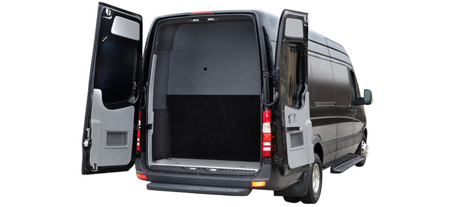 Mercedes Sprinter Exterior back luggage storage
